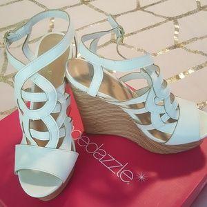 White wedges - Shoedazzle